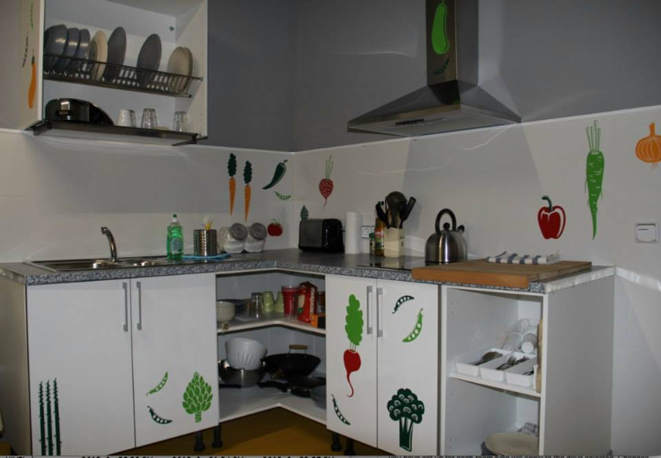 ECO youth hostel in Barcelona, free use of kitchen, Sleep Green ECO youth hostel in Barcelona Spain
